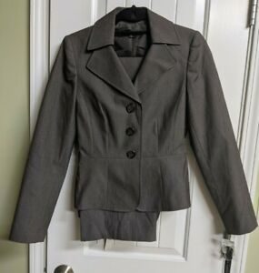 ISABELLA DEMARCO NWT 2 pc. Grey Pants Suit sz 2 blazer w/ sz 4 pants Business