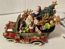 "Fitz & Floyd Holiday Santa Mobile Music Box Plays ""We Wish You Merry Christmas"""