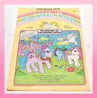 ❤️My Little Pony G1 Merch 1986 VTG Magazine Comic #30 Mystery of Missing Moon❤️