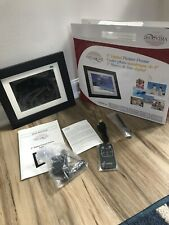 "New Vistaquest 8"" Digital Picture Frame LED 128 MB Remote. Open Box"