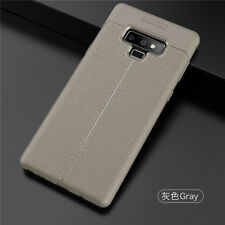 For Samsung Galaxy Note 9 8 5 Shockproof Rubber Slim TPU Leather Back Case Cover