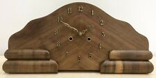 RESTORED to Quartz Battery Vintage Wood Grain Mantle Clock -1363