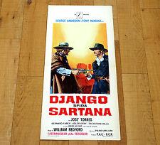DJANGO SFIDA SARTANA locandina poster Squitieri Ardisson Kendall Western AA60