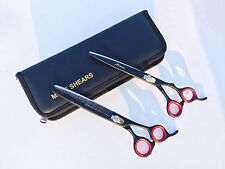 "Professional Pet Grooming Scissors thinning Shears set J2 Japanese Steel 8 """