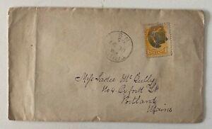 1885 1c Yellow Truro Nova Scotia to Portland Maine USA