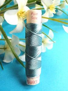 105B / Superb Coil Old Pure Thread Silk Drawstring Phoenix Sky Blue N° 5993