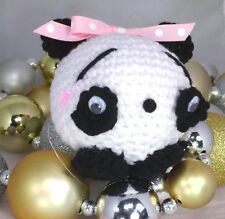 Amigurumi Animals Sandy Pandy 3 inch Panda Teddy Bear Handmade Crochet Stuffed