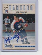 ROD GILBERT 2012-13 Panini Classics signed card auto AUTOGRAPH #78 Rangers SP