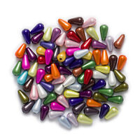 Random Mixed Miracle Acrylic Waterdrop Jewelry Making Spacer Beads 10-23mm