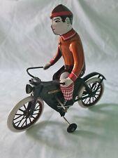 Chinese Tinplate Clockwork Cyclist Toy