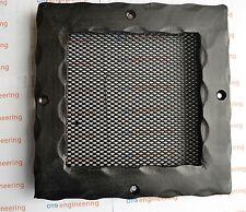 ANTIQUE L оок métal noir grille ventilateur conduit Housse fer forgé