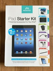 iPad Starter Kit 7 Piece Essential Accessory Ipad 2 Stand Charger Stylus Earbuds