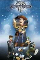 NEW!* Disney Kingdom Hearts 3 Fabric Poster Square Enix Limited Edition ToyStory