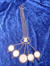 BELLA, ANTICO COLLANA Costume__ CHARIVARI__ 5 antico monete 1860-1913__