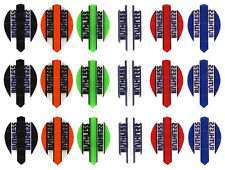 6 Sets of Ruthless Transparent Colored Pear Shaped Dart Flights - 18 Flights