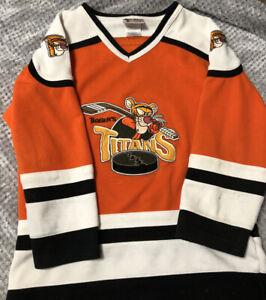 Vintage Disney Parks Tigger's Titans #68 Hockey Jersey SZ Youth XL Cool