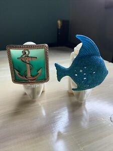 Bath And Bodyworks Wallflowers Anchor And Blue Glitterfish  Plug-in Diffusers
