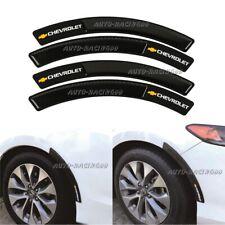 4Pcs CHEVROLET Rubber Carbon Fiber Car Wheel Eyebrow Fender Arch Trim Stickers