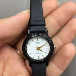 Casio LQ-139EMV-7A Classic Black Resin White Dial Analog Quartz Ladies Watch