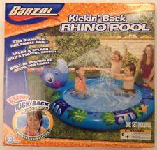 "Banzai - Kickin' Back Inflatable RHINO Pool | #64845 | 63"" Diameter | Ages: 3Yr+"