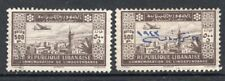 Lebanon 1943-44 Airmails 500p High Values Lightly Used 2 Stamps CV$109
