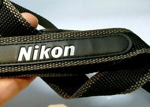 NIKON COOLPIX Neck Strap Camera 2.5cm wide black-gray-white Original OEM