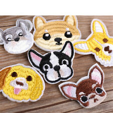 1x Lovely Bulldog schnauzer dog patch babies clothing patches backpack decor jf0