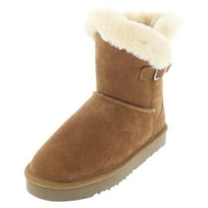 Style & Co. Womens Tiny 2 Tan Suede Winter Boots Shoes 6 Medium (B,M)  3370