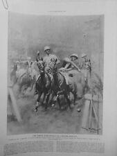 1923 I Competition Pferdesport Indoor Polo Amerika Französisch Zeichnung ✿ Scott