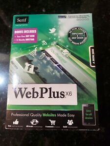 Serif WebPlus X6 (Brand New) With User Guide Sealed Fast Free Shipping