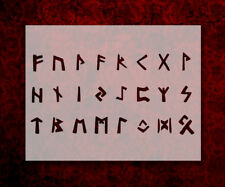 "Vikings Viking Runes Norse Runic Alphabet 11"" x 8.5"" Stencil FREE SHIPPING (56)"
