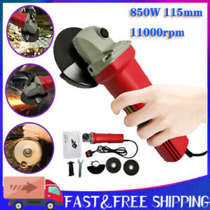 Small Mini Electric Angle Grinder 115mm 850W Grinding Sawing with 2 Cutting Disc