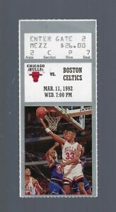 1992 NBA MICHAEL JORDAN vs LARRY BIRD FINAL GAME - CELTICS @ BULLS TICKET STUB