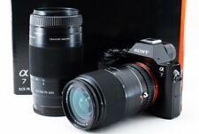 Sony ILCE-7 a7 24.3MP 18-70/75-300mm Lente Set [ EXC Con / 8GB SD, Correa [26]