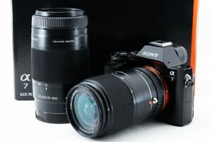 Sony ILCE-7 a7 24.3MP 18-70/75-300mm Lens Set [Exc w/8GB SD,Strap [26]