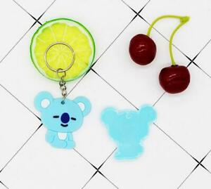 Lovely Cartoon Blue Bear keyrings Silicone Keychian