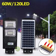 50000LM 60W LED Solar Powered Street Light Radar Sensor Outdoor Wall Lamp