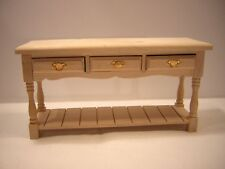 1/12th Dollshouse Miniature Barewood Hall Table / Server