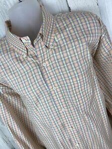 Brooks Brothers Long Sleeve Button Up Shirt Mens Size XXL 2XL [A-1482]