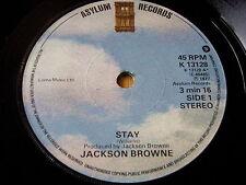 """JACKSON BROWNE - STAY    7"""" VINYL"""