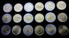 EGYPT FULL 18 Coins SET, 50 Piastres 1 Pound 2019, Commemorative,UNC, BIMETALLIC