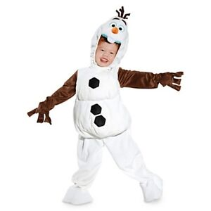 New Authentic Disney Frozen Snowman Olaf Kids Halloween Costume Size 3 4 5 6 5/6