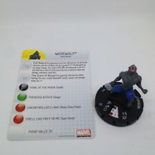 Heroclix Amazing Spider-Man set Werewolf #014 Common figure w/card!