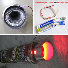 Exhaust Tail Pipe Red Flame LED Light Strip Modification Firing For Car SUV Bike