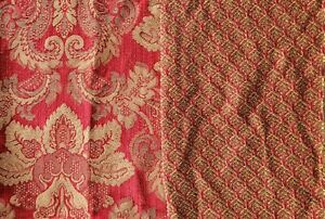 5 yards Croscill Bellissima New vintage stock fabric Red Gold