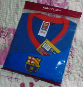 New Mens Authentic FC Barcelona 100% Cotton Club T-Shirt Size:M-L-XL YOU CHOOSE