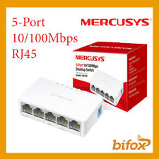 SWITCH DI RETE 5 PORTE INGRESSI LAN ETHERNET RJ45 10/100 MBPS HUB MS105 DESKTOP