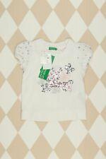 BENETTON T-Shirt mit Pailletten aus Baumwoll-Mix D 74 weiß Top Mädchen Kinder
