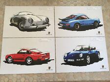 PORSCHE OFFICIAL 356 SPEEDSTER 959 993 911 CARRERA POST CARD SET OF 4 NEW 2012