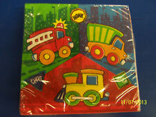 Construction Pals Fire Dump Truck Train Birthday Party Paper Luncheon Napkins